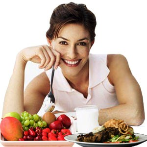 girl with fruit dishes